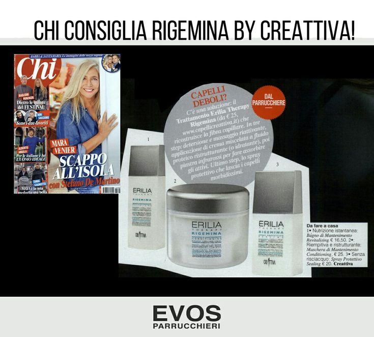 #Rigemina by @Creattiva_Prof la linea professionale per la rigenerazione profonda.  Un trattamento ideale per capelli deboli e danneggiati.  Nei saloni @Evs_italia