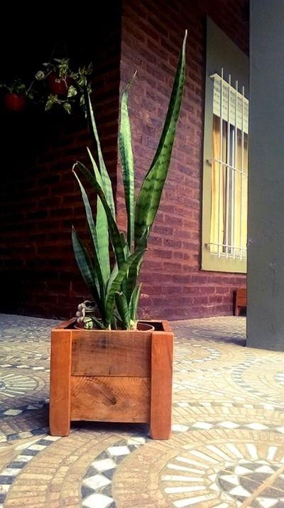 Macetas De Madera - Tratadas Para Exterior - Jardín Rustic - $ 150,00 en MercadoLibre