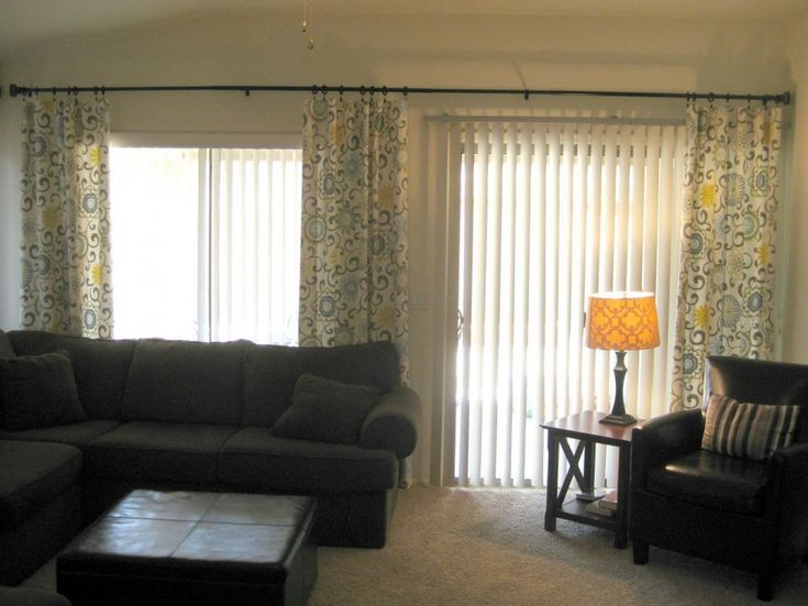 Decoration Great Sliding Door Curtains For Your Inspiration Gorgeous And Blinds To Beautify Interior Manage Light