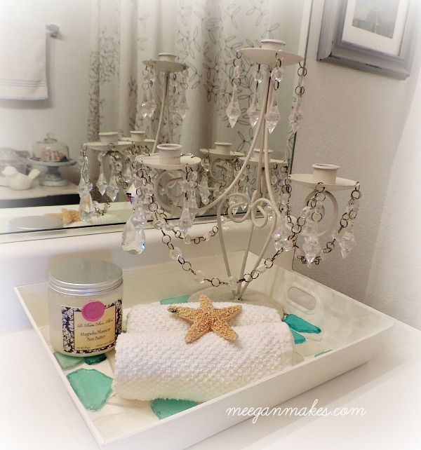 Diy Sea Glass Tray Glass Tray Trays And Beach Cottage Decor