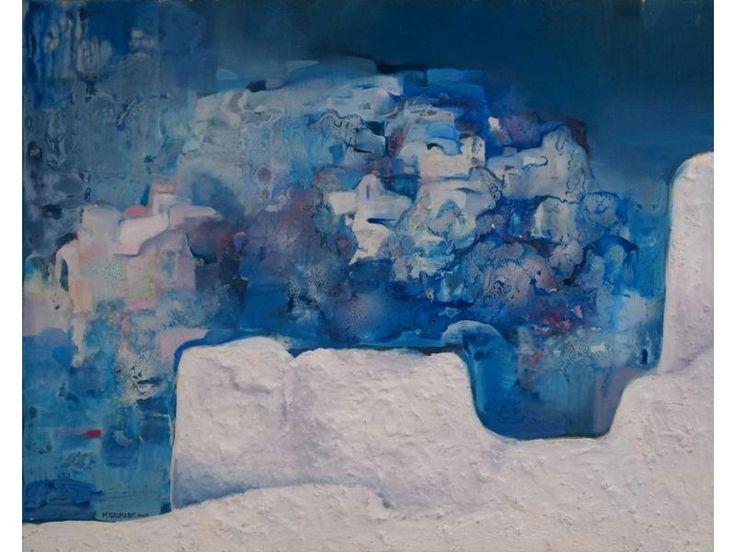 Πίνακας ζωγραφικής αφηρημένη τέχνη ζωγράφος Szhubert [80x100]