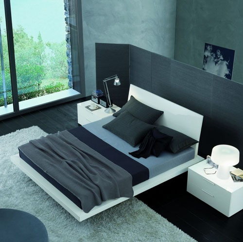 Modern Bedroom (black grey white)