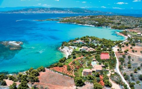 Agios Emilianos beach in Porto Heli, Greece