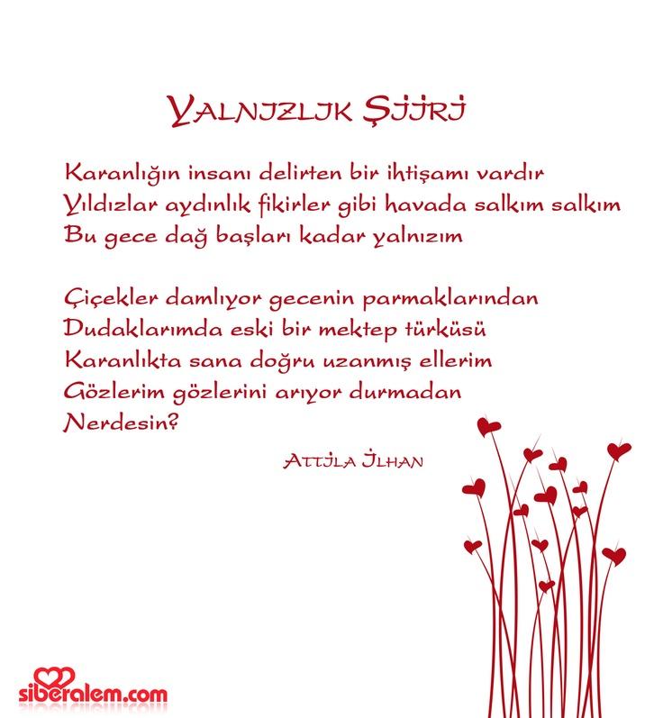 Bir şiir... #Atillaİlhan