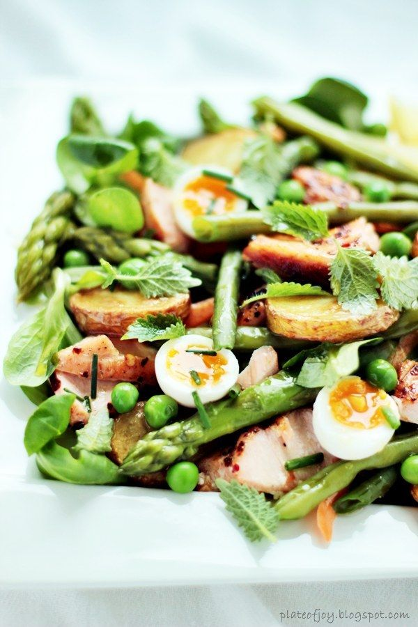 egg salad recipes lunch recipes asparagus salad baby potatoes roasted ...