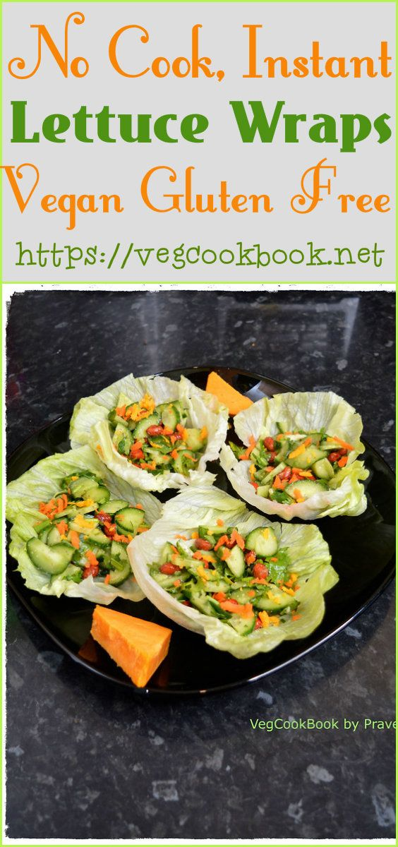 Instant, Protein Rich, Healthy Lettuce Wraps (V, GF)!