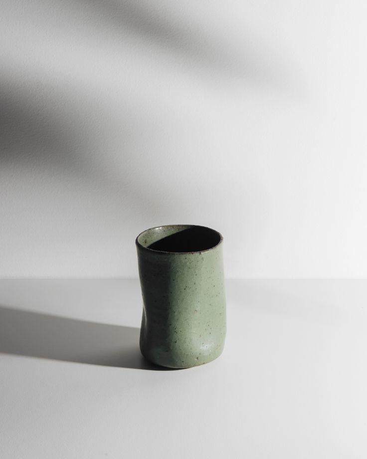 Enjoy a cup of tea in a ceramic mug.