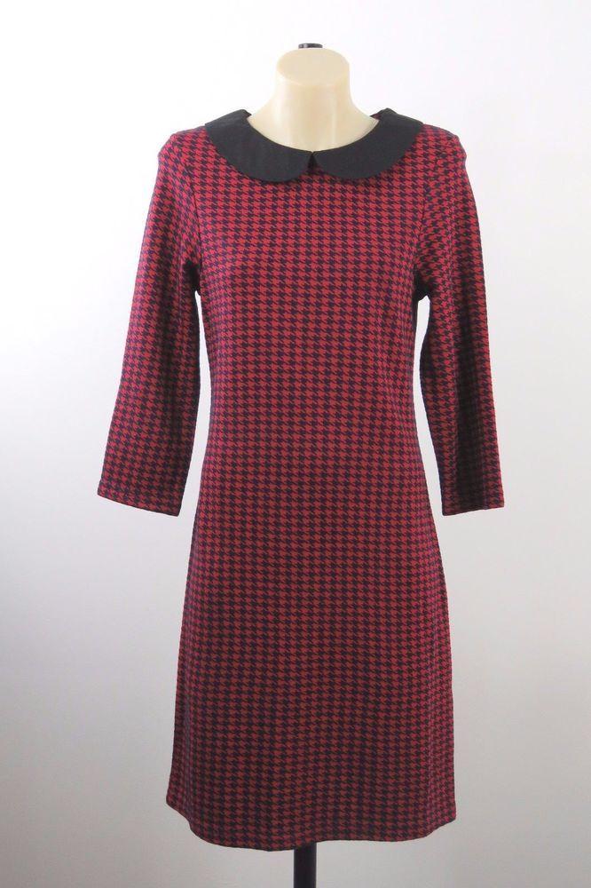 NWT Size S 10 Dangerfield Ladies Red Dress Retro Chic Corporate Cocktail Design #Dangerfield #Shift #WeartoWork