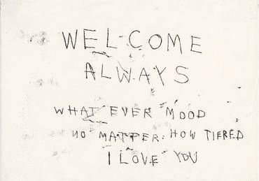 Always Welcome, 1998 by Tracey Emin