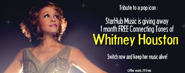 We will all miss you Whitney.. btw, dont mind a whitney ring back tone just to comm orate her.. am getting one