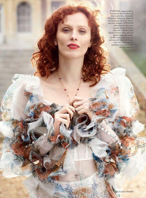 Karen Elson - Harper's Bazaar UK Junho 2017