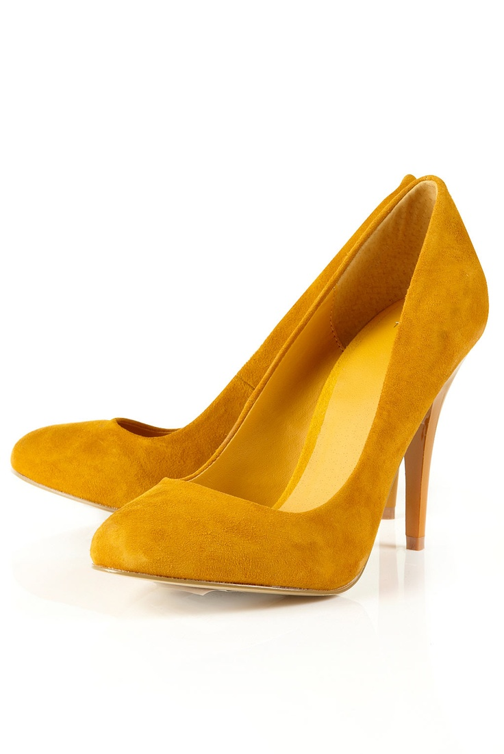 Court Shoes Mustard