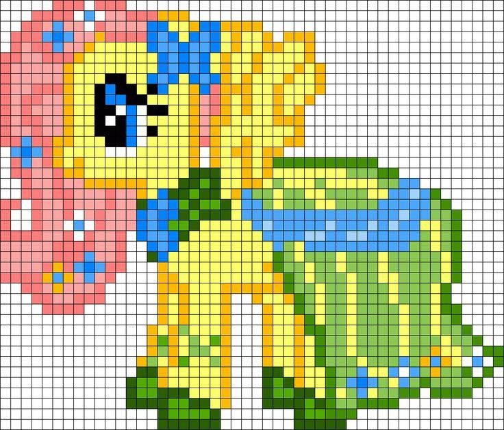 Gala Fluttershy My Little Pony Perler Bead Pattern / Bead Sprite
