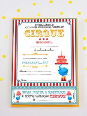 Roulement de tambour !La pus incrrrroyable carte d'invitation d'anniversaire est sous vos yeux ! Ce sont les petits clowns et les acrobates en culottes courtes qui vont être ravis.