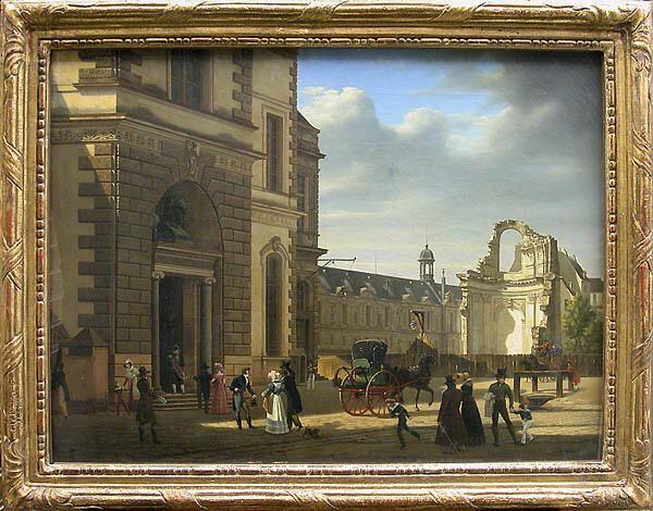 Étienne Bouhot - Vue de l'entrée principale du musée royal, dépôt du musée Carnavalet, 1822 http://virgileseptembre.tumblr.com/post/126597099349/étienne-bouhot-vue-de-lentrée-principale-du … pic.twitter.com/ZShhcPsQnX
