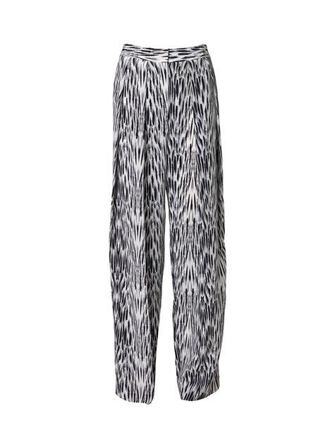 Parasa zijden broek met print
