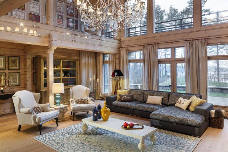 Фото интерьера гостиной дома в современном стиле