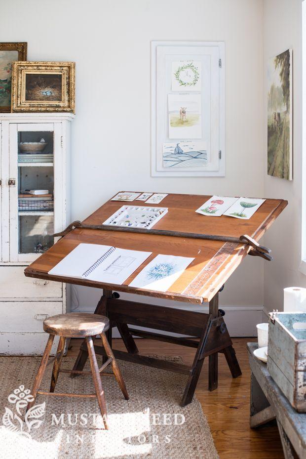 100 Craigslist Drafting Table Miss Mustard Seed Art Studio At Home Art Studio Room Drawing Desk
