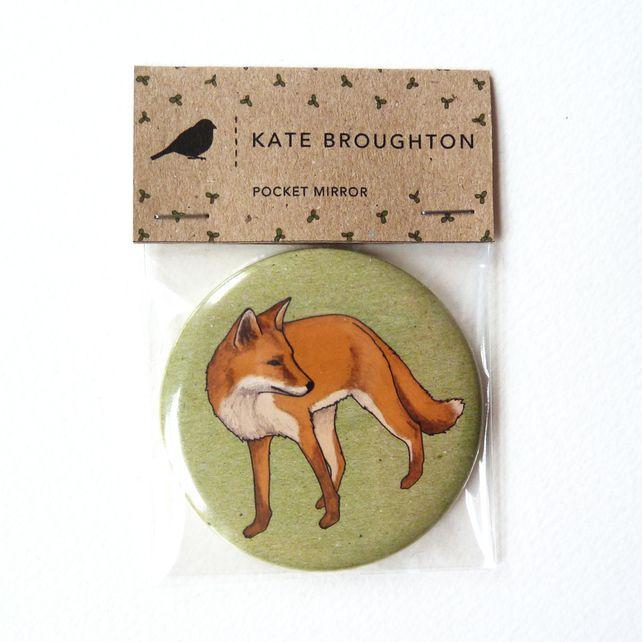 Woodland fox pocket mirror £4.00