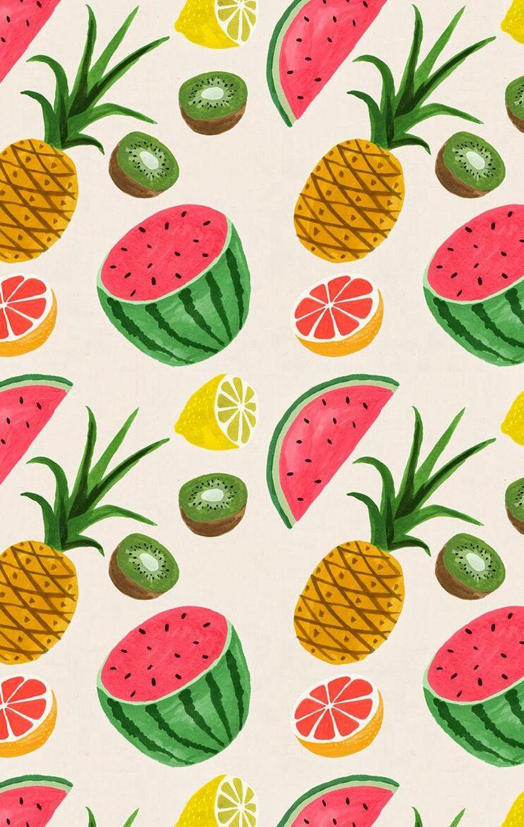 estampa com frutas fruit pattern