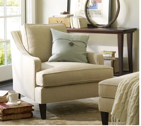 Cute Chair And Foot Rest. Linen SofaAccent ChairsLiving Room ... Part 46