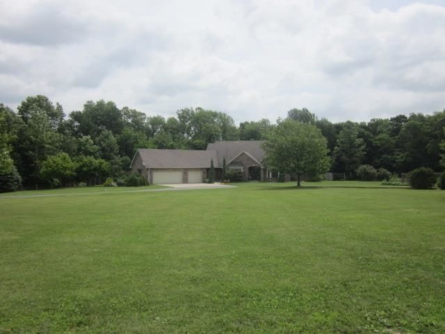 Walk out your front door to a dream come true! You'll be blown away by this nearly 64 acre horse farm. This one-of-a-kind equestrian haven has it all! Three large Morton pole buildings to meet all your needs. The largest pole building features a 200 x 80 riding arena, numerous stalls, 3-12 x 24 full length stalls (plumbed and heated), saddle room, living quarters with kitchen & bath and so much more. Two additional pole buildings, large farm barn, and 11 run-in sheds. Acres and acres of ...