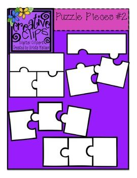 {Free} Puzzle Piece Templates 2 {Creative Clips Digital Clipart}