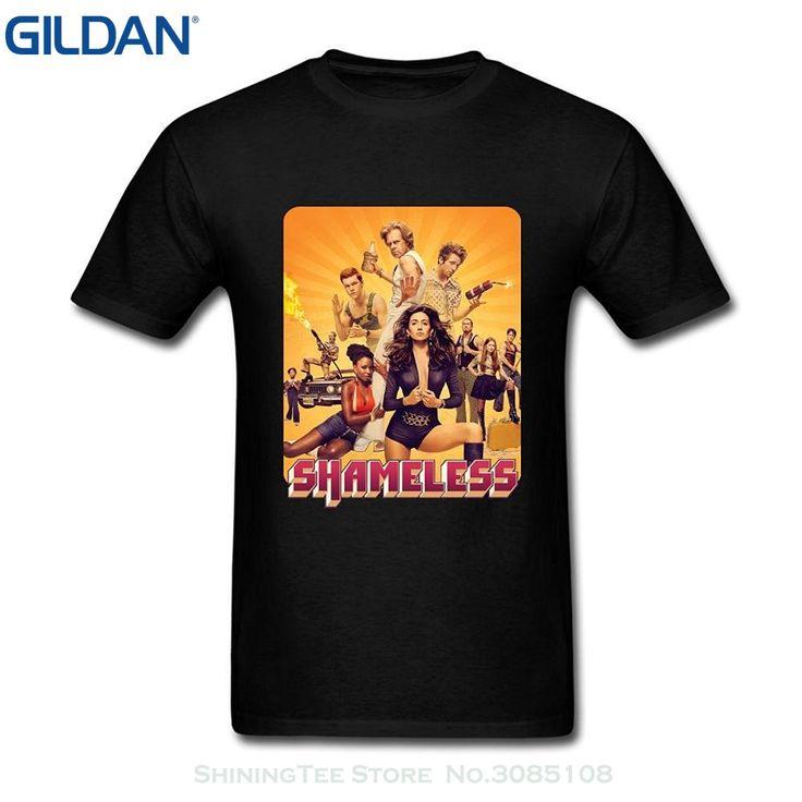 GILDAN Men Brand Clothihng Top Quality Fashion Mens T Shirt 100%cotton Ommiiy Men's Shameless Season 6 T Shirts