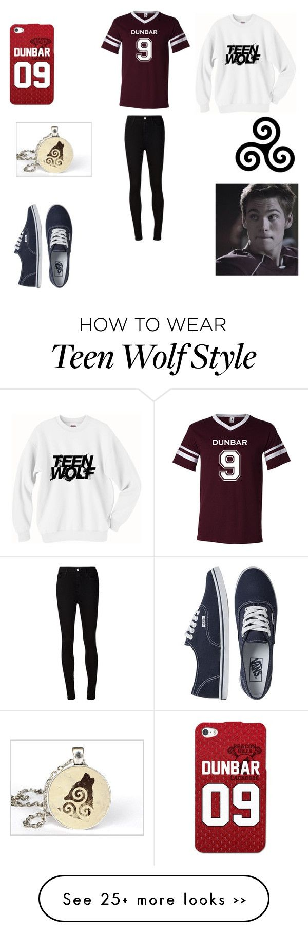 """Liam Dunbar Teen Wolf"" by emilylovel on Polyvore featuring AG Adriano Goldschmied and Vans"