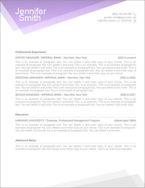 14 best FREE Resume Templates images on Pinterest Resume cover - free resume templates for microsoft word