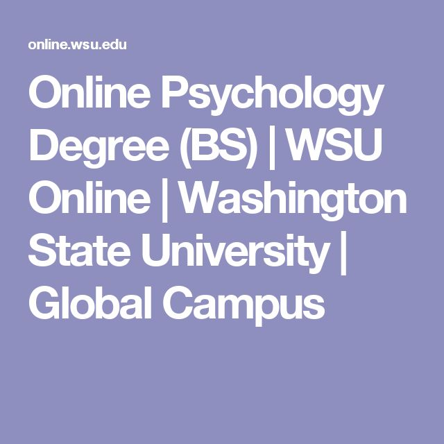 Online Psychology Degree (BS) | WSU Online | Washington State University | Global Campus