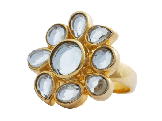 Flower Ring.Jane Wagman, Fashion, Flower Rings, Isharya Fiore, Crazy Flower, Jewelry, Fiore Crazy, Pretty Flower, Bling Bling