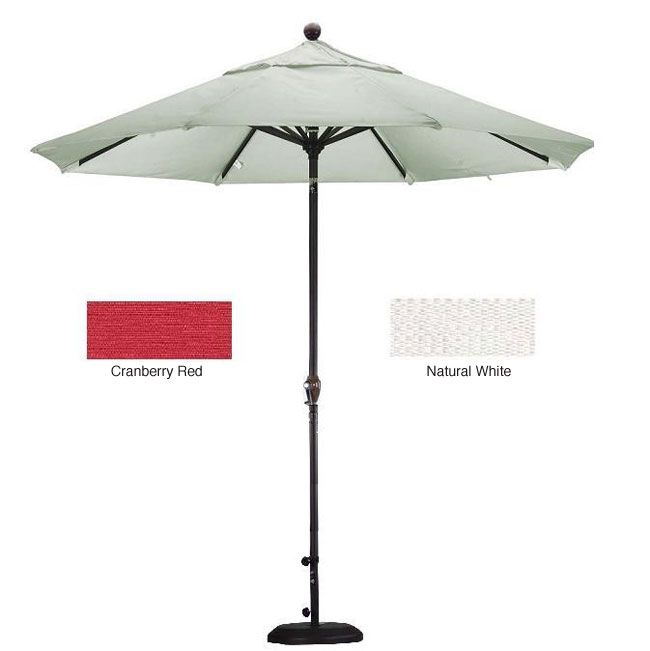 Lauren & Company Premium Woven Olefin Patio Umbrella with Stand
