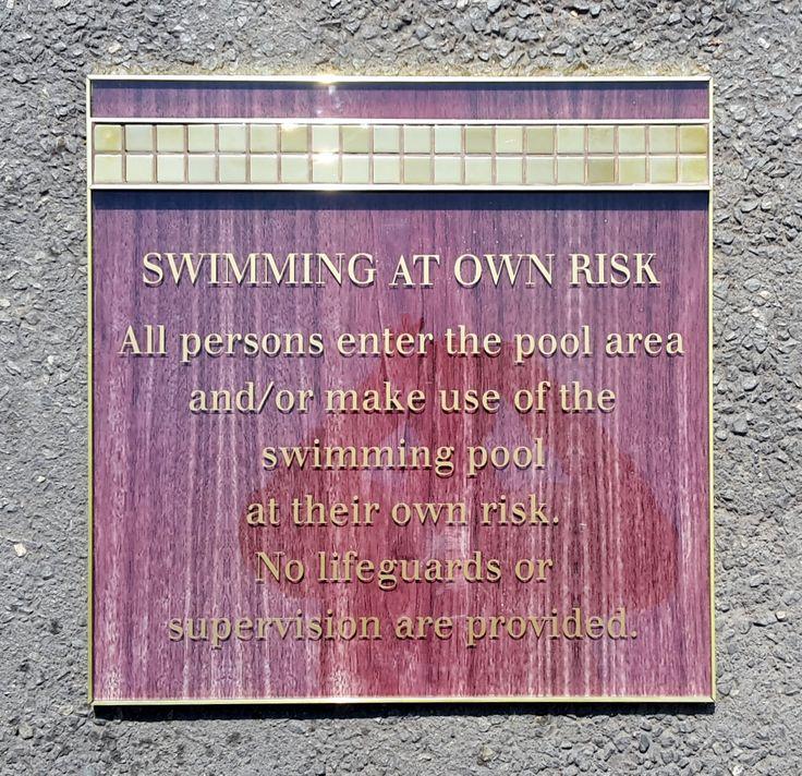 Swimming Pool regulatory sign