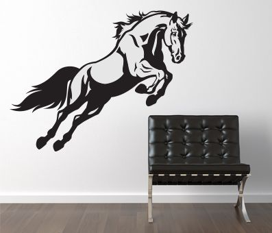 VÄGGDEKOR Häst hoppande