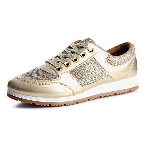 Oferta: 21.88€. Comprar Ofertas de topschuhe24 - Zapatillas de otros para mujer, color Dorado, talla 38 EU barato. ¡Mira las ofertas!