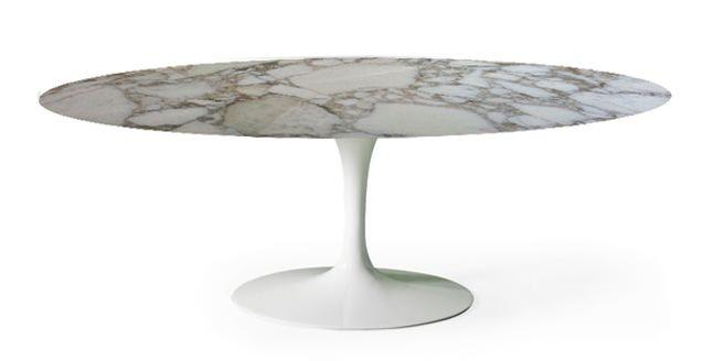 #Tavolo#Tulip da pranzo ovale o rotondo in marmo TavoloE. Saarinen BAUHAUS RE-EDITION