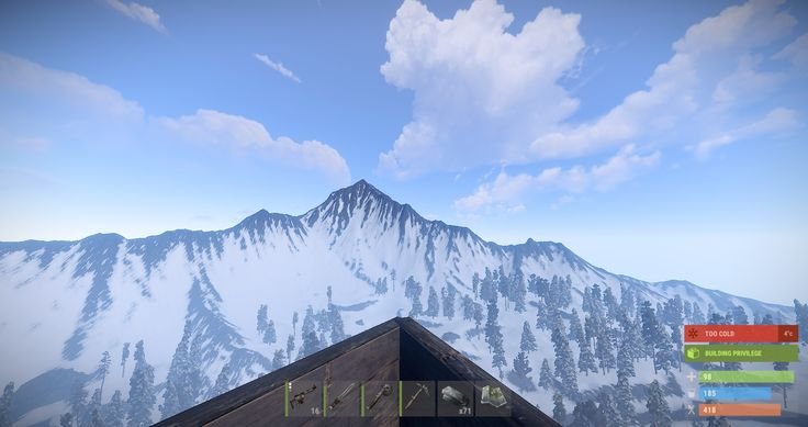 My Rust base has the best view [1920 x 1080] - OC