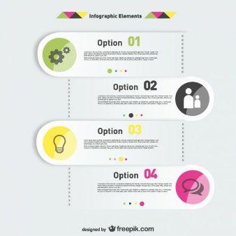 Infographics elements options labels design