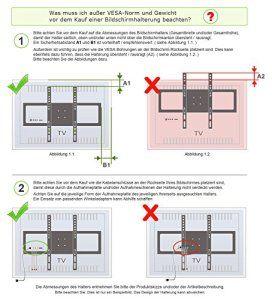 RICOO Support TV mural Meuble TV mural F0244 Fixation Murale TV support tele mural support ecran plat bras TV meuble TV mural pas cher…