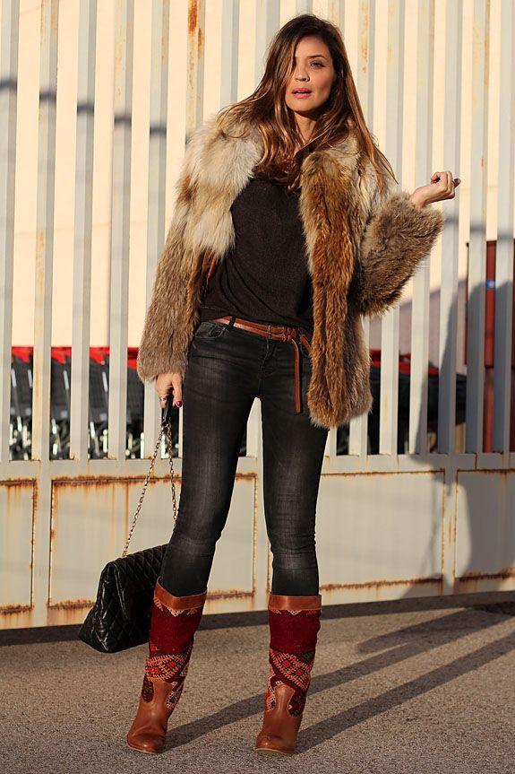 fur coat | Lady Addict en stylelovely.com