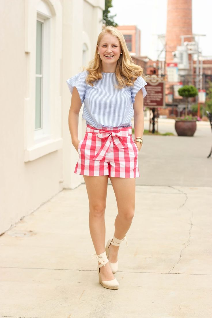 Stripes & Gingham  @prepavenue  preppy, southern, south, prep, stripes, clothing, outfits, dress, draper james, reese witherspoon, nashville, tote, home, decor, style, summer, romper, 2017, bow, bows, gingham, stripes