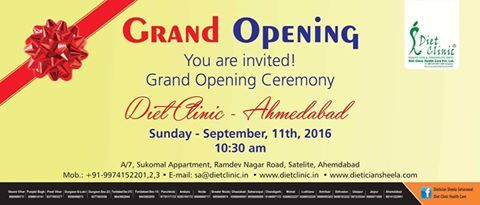 Diet Clinic Ahmedabad Opening Ceremony , Rs - 500 Discount.