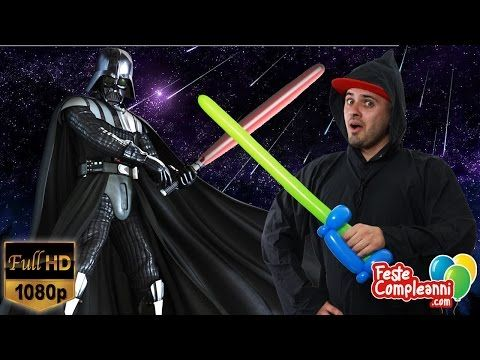 Star Wars Lightsaber Balloon - Palloncino Spada Laser Guerre Stellari - Tutorial 138 - YouTube