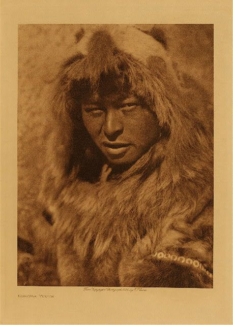 Nunivak youth,1928. Edward Sheriff Curtis Photography.