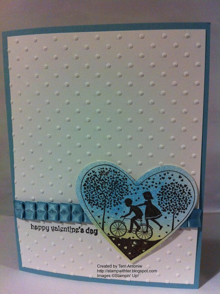 Valentine Bike  Stamp With Ter