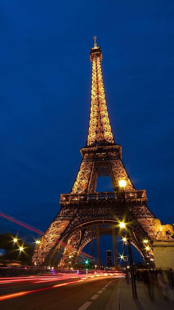 Shiny Eiffel Tower In Paris Menara Eiffel Menara Pemandangan Kota