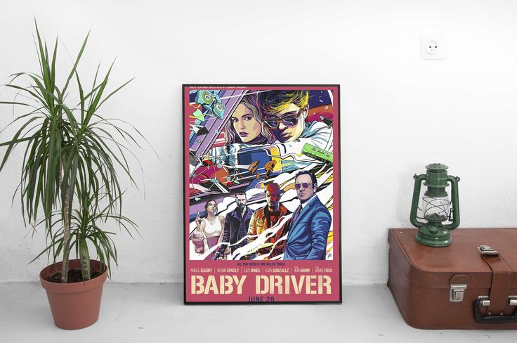 """Excited to share the latest addition to my #etsy shop: Baby Driver Movie Poster - Director Edgar Wright - Starring Kevin Spacey - 2017 Film Print - Home Decor - Size 13x20"""" 24x36"""" 27x40"""" 32x48"""" http://etsy.me/2jTOGcx #music #poster #babydriver #movieposter #directoredgar #wrights"""