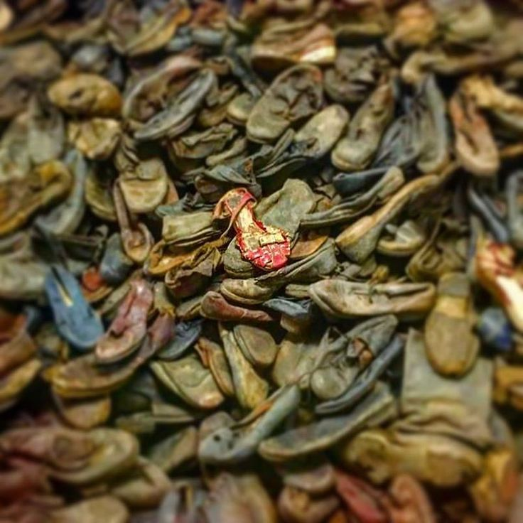---Photo by @chanelthomas --- Auschwitz I. Block 5. Shoes which belonged to people who were deported to Auschwitz. Every single one represents one person and one life. There are ca.  80 thousand shoes displayed there.