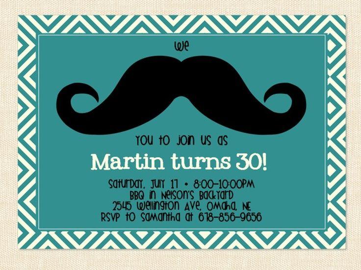 de 25+ bedste idéer inden for 30th birthday invitations på pinterest, Birthday invitations